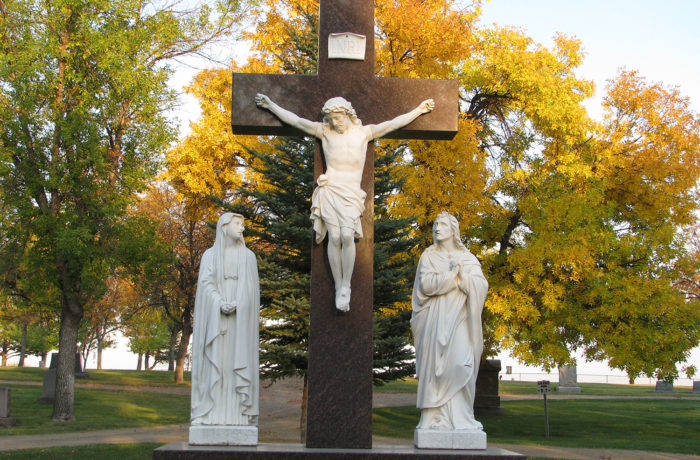 Former Sunset Memorial Cemetery Statues in Calvary Cemetery, History Among the Headstones